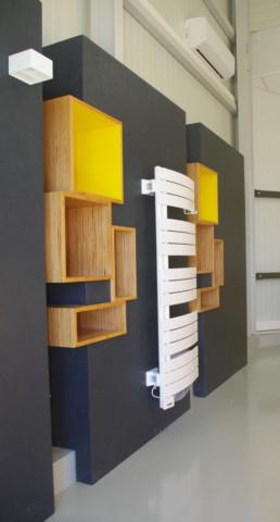 création de présentoirs pour magasin
