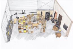 vue 3D espace professionnel