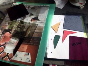 verre coloré pour vitrail art déco
