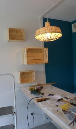 décoratrice d'intérieur Toulouse caisses bois Ikea
