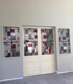 décoratrice d'intérieur Ariège Toulouse verrière art déco vitrail coloré